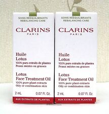 Clarins Lotus face Treatment Oil For Oily/Combination Skin 2 X 2ml - BNIB