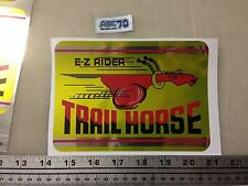 Trail Horse EZ Rider Trailhorse mini bike frame fork plate decal sticker