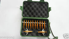 "12PC Golden 100 Grain Cut 1.75"" Broadheads Hunting+1 Broadhead Case Box"