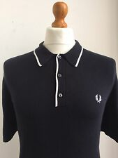 Fred Perry | Tipped Knitted Polo Shirt Black/White