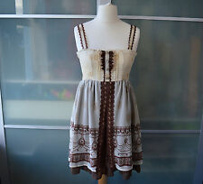 Axes Femme vintage style brown babydoll dress ~ M ~ JAPAN ~ LOLITA ~ JAPANESE