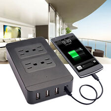 1.8m 6FT Home office Smart Power Strip 4-port USB + 4-outlet Surge Protector New