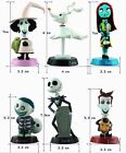 6PCS Nightmare Before Christmas Cartoon DIY Dolls PVC Action Figure Toys Doll