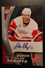09/10 UPPER DECK TRILOGY DAN CLEARY SUPER SCRIPTS AUTOGRAPH SP