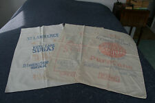 3 vintage 100 lbs sugar sacks / bags