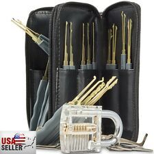 New! 26Pcs Training Tool Set Locksmith Practice Tools Cutaway Transparent