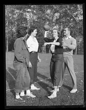 Photo Negative 1950s  Ladies with Football    Female Sports