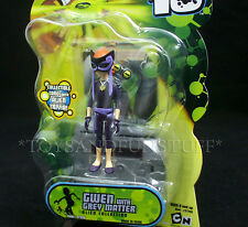 "NEW - GWEN with GREY MATTER - Ben 10 - 4"" Action Figure 2007 - Alien - HTF NEW"