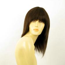 Perruque femme 100% cheveux naturel châtain ref KOKO 6