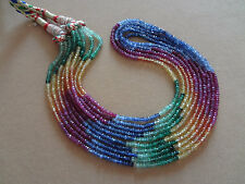 AAA+ Emerald,ruby,sapphire 2-3 mm Micro Faceted Full 14 Inch strand Rondelle