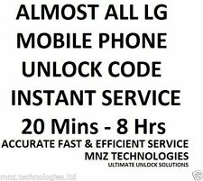 All Unlock Code LG OPTIMUS L90 F5 F3 P659 MS659 L3 ONE P500 E400 L90 D415