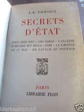 Tournoux: Secrets d'état (Dien Bien Phu-Les Paras- l'Algérie...)/ Librairie Plon