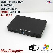 MINI MICRO COMPUTER AMD E-450 DUAL CORE 320GB WLAN HDMI GIGABIT RADEON 6320 DDR3