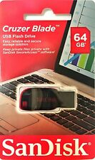 NEW SanDisk Cruzer Blade 64GB 64G USB Flash Drive Thumb Pen Memory Stick 2.0