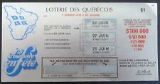 Quebec Lottery First Issue Instant Lottery Ticket, issued in 1977