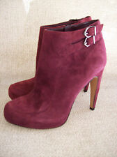 Sam Edelman New KIT Purple Suede Ankle Boot 6 Hidden Platform Side Zip FREE SHIP