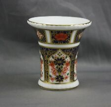 "Royal Crown Derby Old Imari Small 2 1/2"" Vase Toothpick Holder Sold Individually"