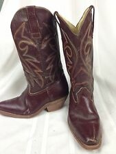 Distressed Womens Size 7 Cowboy Boots Brown Western Heel Cowgirl Tres Toritos