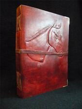 'My Horse'  - Large Handmade Leather Journal Diary Sketchbook - for Horse-Lovers