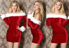 New Sexy Miss Mrs Santa Claus Christmas Costume Xmas Outfit UK Size8 10 12 14 16