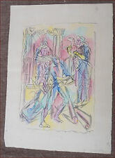 Jacques Villon Virgilius Maro Cubist Original Lithograph Signed 1955