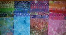 "Lot#a, 40pcs BATIK quilt blocks, cotton fabric layer cake pack, 10"" squares"