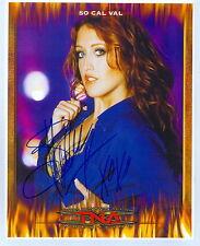 SO CAL VAL TNA IMPACT SIGNED AUTOGRAPH 8X10 PHOTO W/ COA