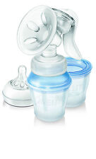 Philips Avent Natural Manual Breast Pump with Milk Storage Cups SCF330/12