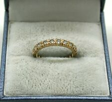 Vintage 9ct Rose Gold And White Spinel Full Eternity Ring