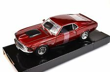 FORD MUSTANG BOSS 429 1970 '70 MOTORMAX 73303 1:24 DIECAST METALLIC RED