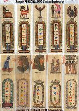 """""""YOUR PAPYRUS BOOKMARK WITH YOUR NAME ON IT"""" CHOOSE A ZODIAC or PHARAONIC ONE"""