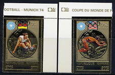 CAMBODIA Sc#C38-9 Gold Foil 1973 Olympic Games, Munich MNH
