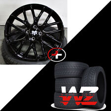 17 Mini Cooper Wheels w Tires Gloss Black Finish Fits Mini Cooper S Rims
