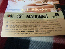 Madonna Like A Virgin Lucky Star Remix 1984 Version UFO Taiwan only Cassette
