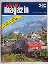 märklin magazin - Die Zeitschrift für Modell-Eisenbahner - Ausgabe 3/92