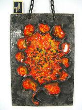 "Beautiful 70´s design Carstens Luxus Keramik chain wall plaque  "" sunflower  """
