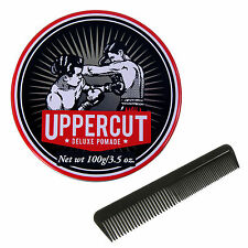 UPPERCUT DELUXE Pomade Water Based Strong Greaser 3.5 OZ 100g With Free Comb NEW