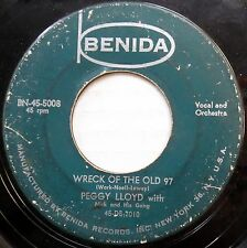 PEGGY LLOYD 45 Love Him So Much / Wreck Of The Old 97 COUNTRY BOPPER 1959 c1548