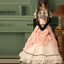 Black Butler Ciel Phantomhive Cosplay Costume Full Set Birthday Longuette Dress