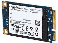Crucial MX200 mSATA 500GB SATA 6Gbps (SATA III) Micron 16nm MLC NAND Internal So