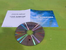 JASON MRAZ - LOVE SOMEONE !!!!FRENCH ONLY PROMO CD!!!!