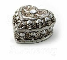 Alchemy Gothic Paladin's Tithe Skull Resin Crystal Heart Jewellery Trinket Box