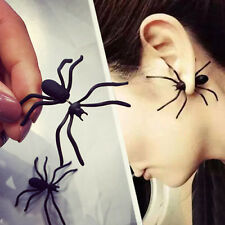 1pcs Women Punk Earring Funny Style Weird Design Black Spider Special Shape