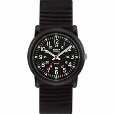 "Timex T18581, Unisex Size ""Camper"" Black Fabric Strap Watch, T185819J"