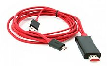 1080P Micro USB MHL to HDMI Cable adapter HDTV SAMSUNG GALAXY S2 I9100 I9110 -2m