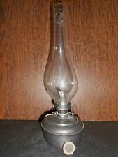"""ANCIENNE LAMPE A PETROLE  ETAIN ECLAIRAGE """" LES ETAINS DU GRAND DUC """" TRADITION"""