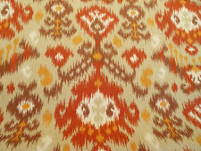 MAGNOLIA HOME BLURRED LINES SANTA FE IKAT RED ORANGE UPHOLSTERY FABRIC BTY 78B2