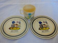 Vintage Holly Hobbie Friends are fun Toy Dishes American Greetings 1978 Set/3