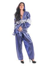 PVC Chaqueta impermeable + Pantalón en azul oscuro