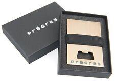 Prägres Money Clip minimalist Wallet Compact Credit Aluminum Bottle Opener slim